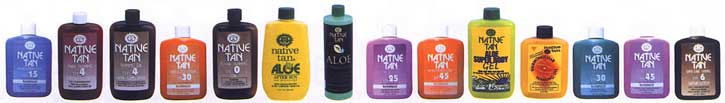 Native Tan Sunscreen, Sunblock and Sun Tanning lotions