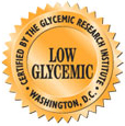 Low Glycemic Seal - NuGo bars are Low Glycemic nutrition bars