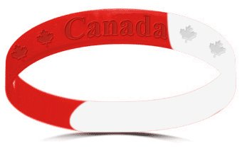 Canada wristbands 100% silicone bracelet - FREE shipping to Canada