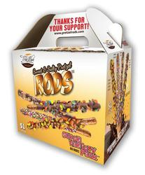 Pretzel Rods Variety Pack 52 count Sweet & Salty Fundraising carry case